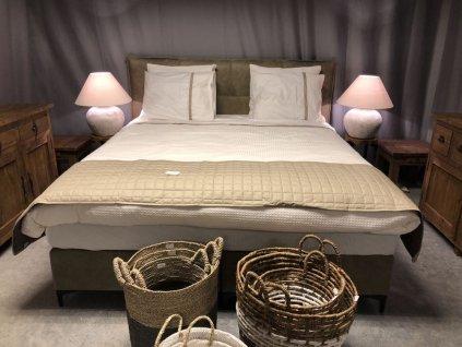 čalouněná boxspring postel BEDMEN