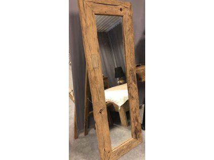 teakové zrcadlo RAILWAY se stojanem