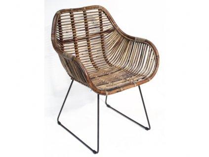 jídelní židlička ratanová