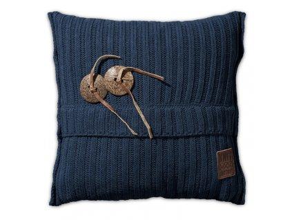 Pletený polštář Aran 50x50 cm jeans