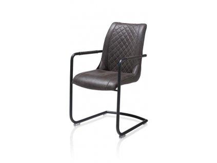 čalouněná židle ARMIN s područkami- antracitová