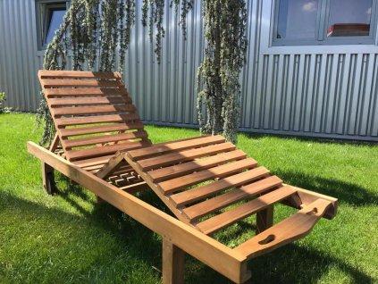 teakové zahradní lehátko LIPAT3