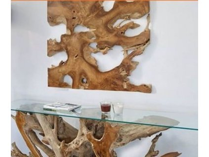 teaková dekorace na stěnu 80