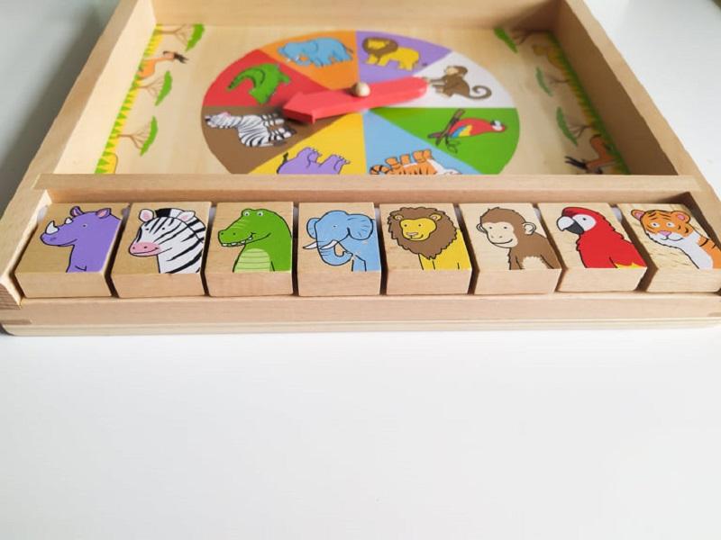Dřevěná dětská ruleta