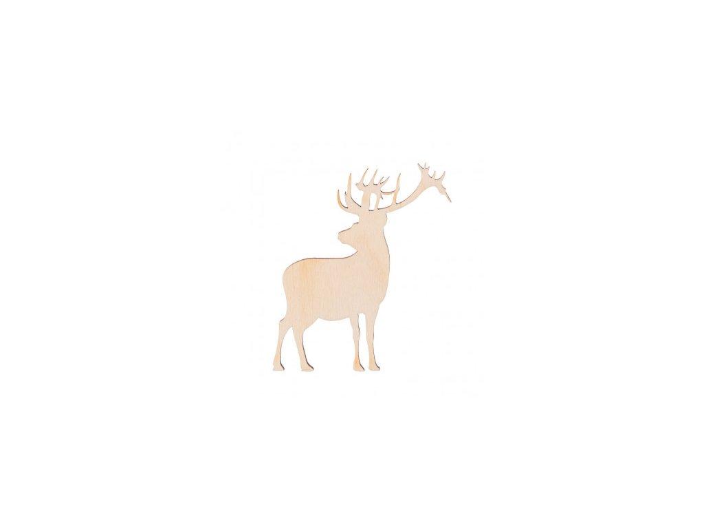 dřevěný jelen 462x388