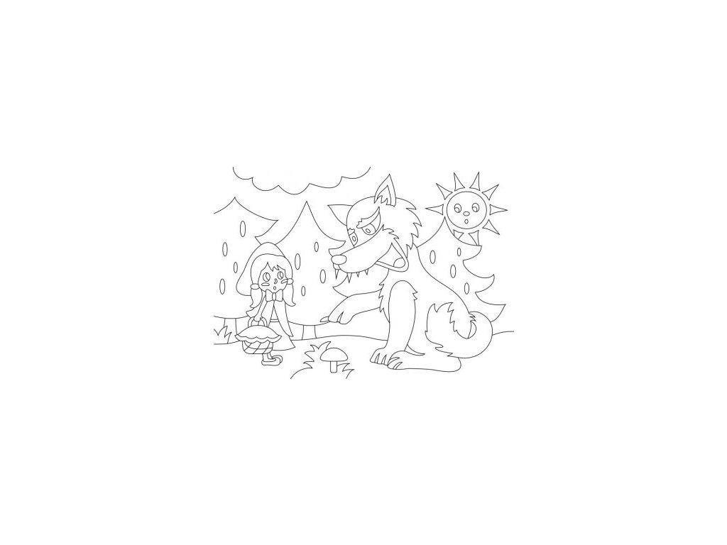 10507 1 sablona na piskovani karkulka a vlk radost v pisku