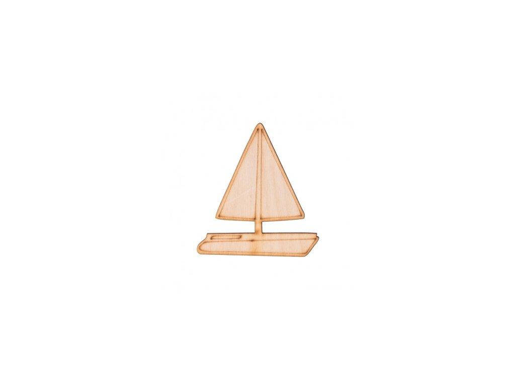 Dřevěná plachetnice z překližky 462x388
