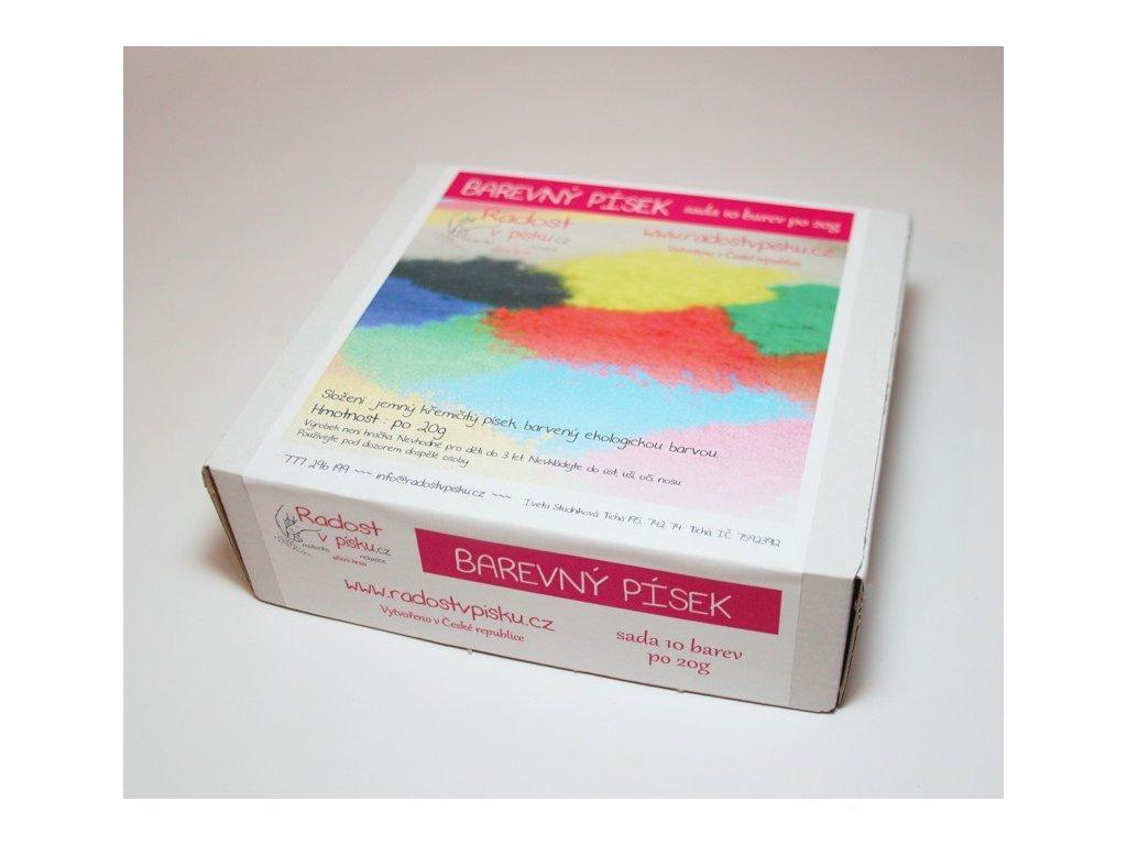 678 mala sada 10x20g barevny pisek radost v pisku