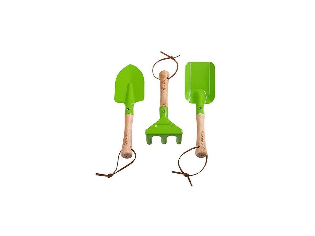 sada zahradnickéh náčiní zelené