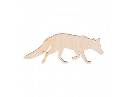 dřevěná liška 462x388