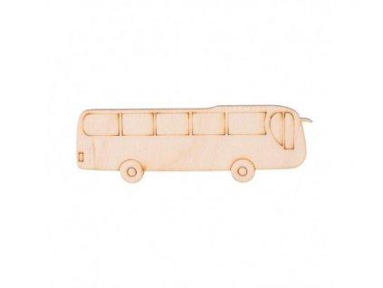 Dřevěný autobus 3,5 x 11 cm 462x388