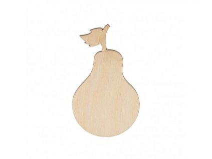 Dřevěná hruška 8 x 5 cm 462x388