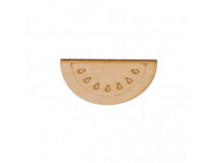 Dřevěný meloun 3 x 6 cm 462x388