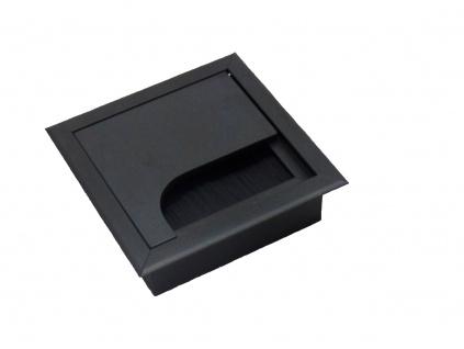 Kabelová průchodka do stolu, nábytku černá