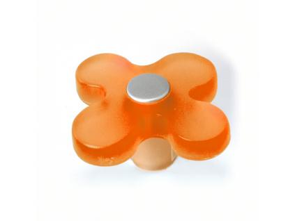 Knopka dětská oranžová květ
