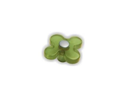 Knopka dětská zelená květ