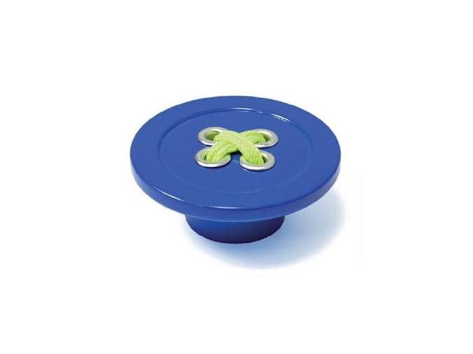 úchytka knoflík modrý