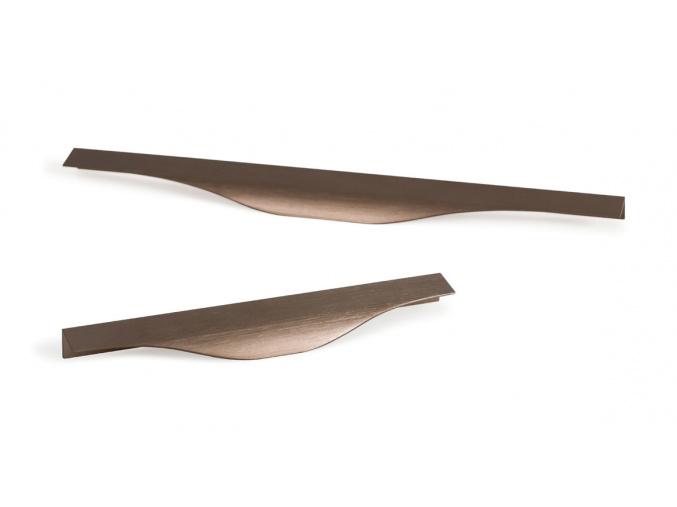 úchytka na hranu bronz