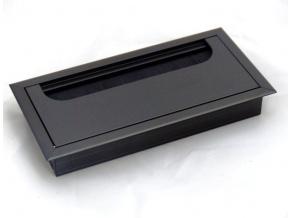 Kabelová průchodka do stolu, nábytku černá černá