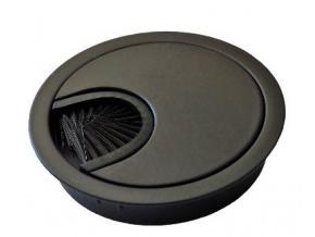 Kabelová průchodka 60 mm černá - kov