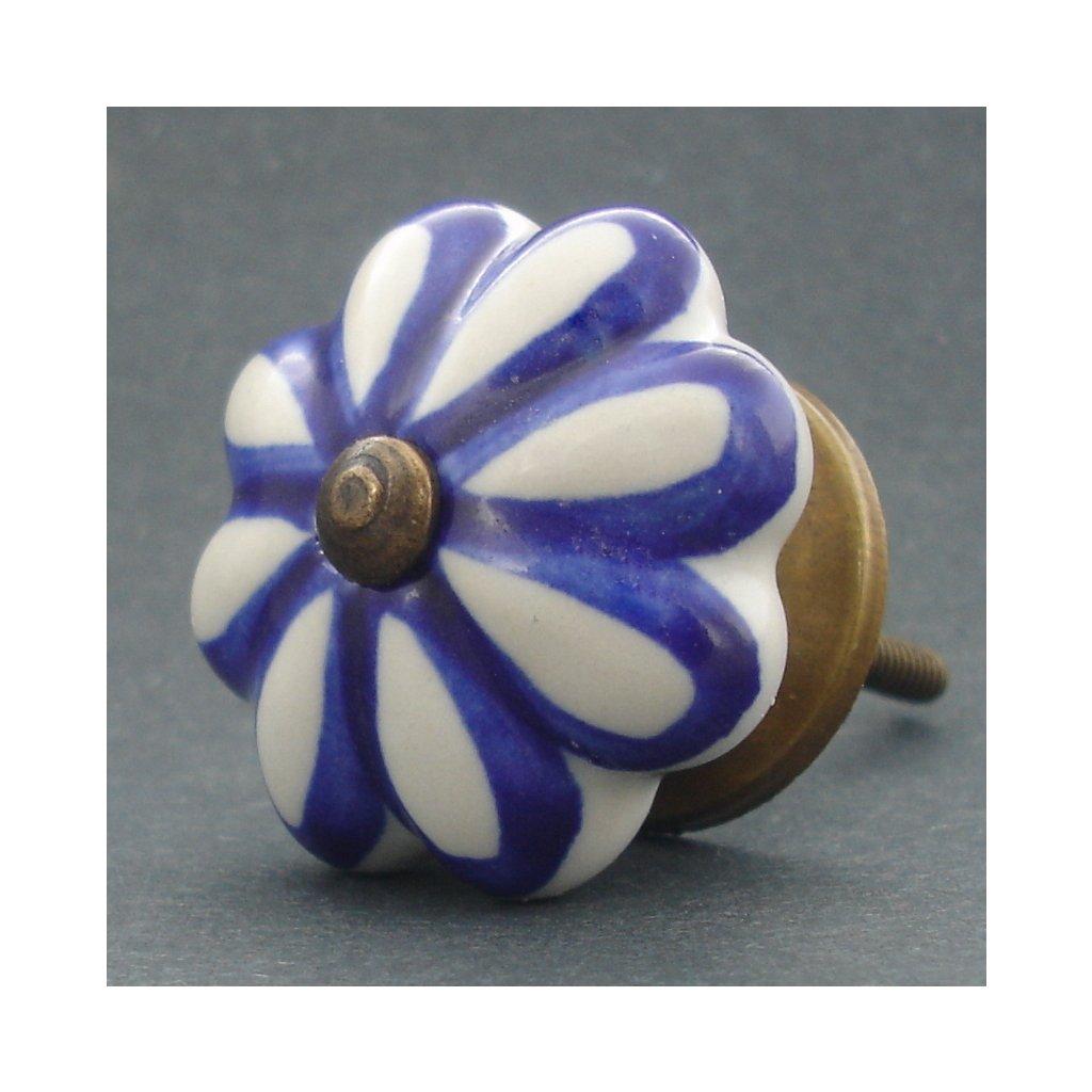 Keramická úchytka-Tmavě modrý lem