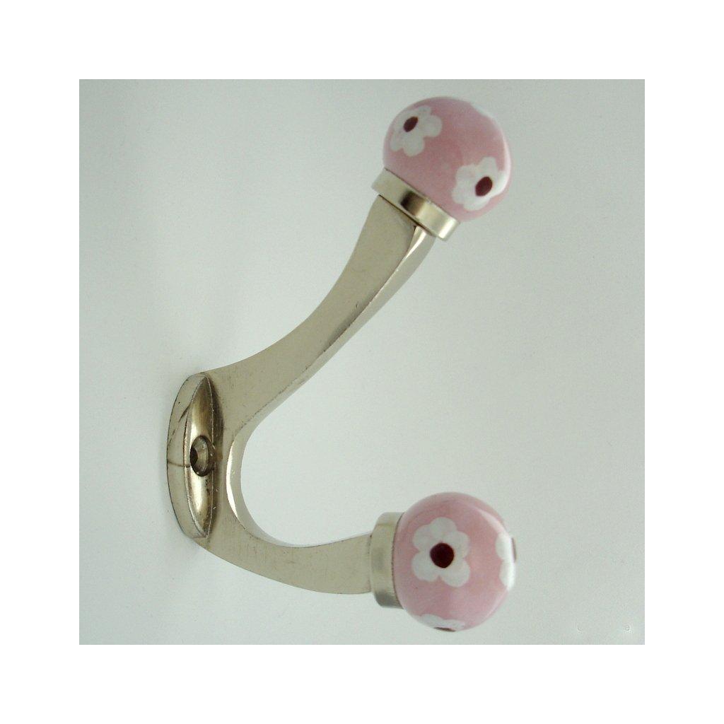 Chromovaný věšák-Krásnoočko růžové