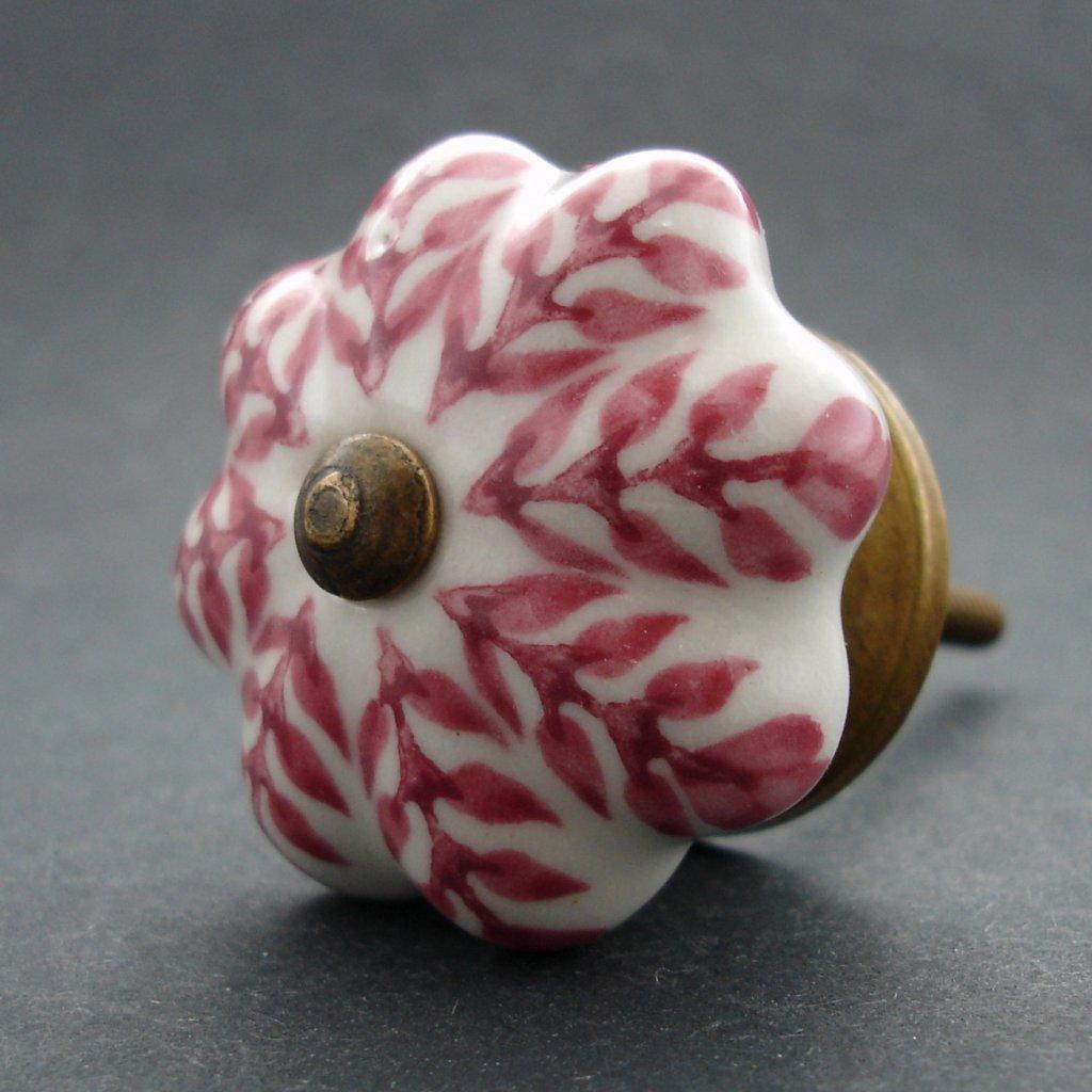 Keramická úchytka-Růžový strom