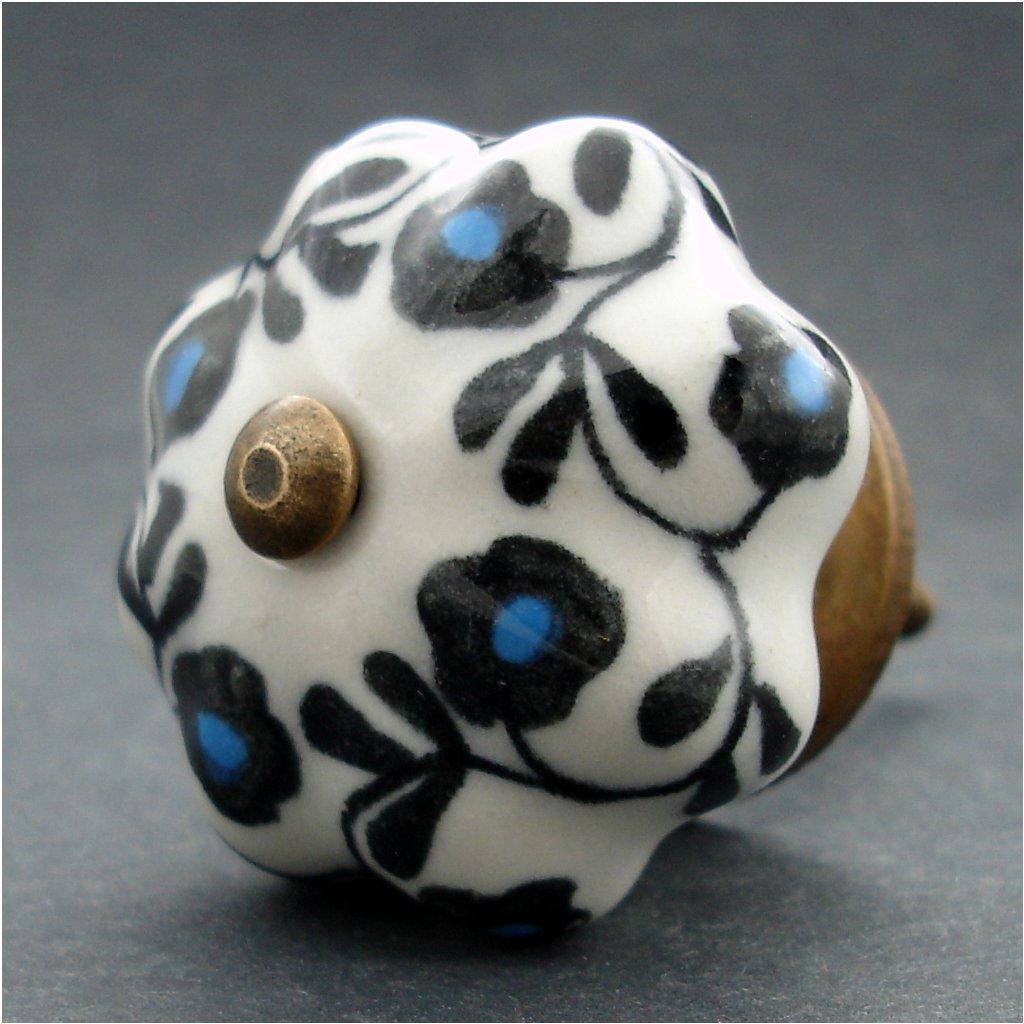 Keramická úchytka-Popínavky černomodré