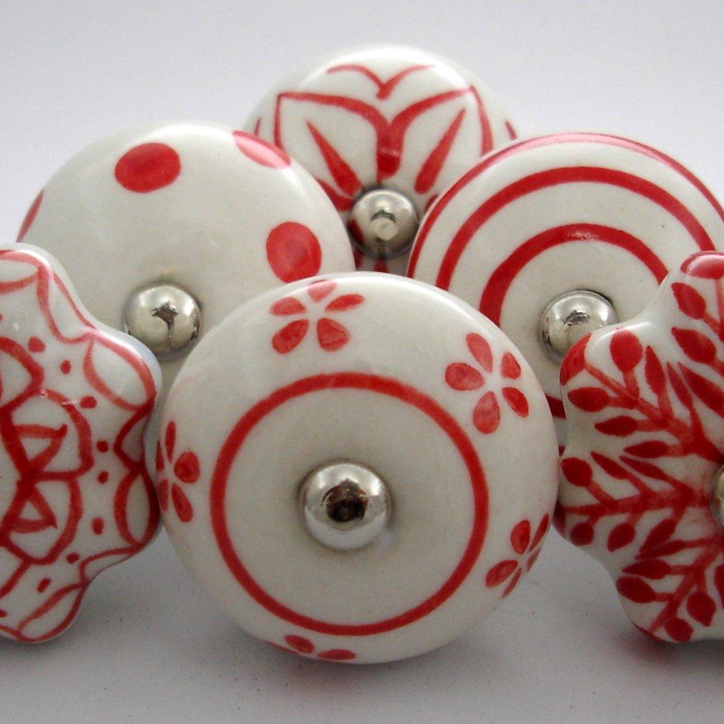 Výhodná sada 6ks-Bílá a červená
