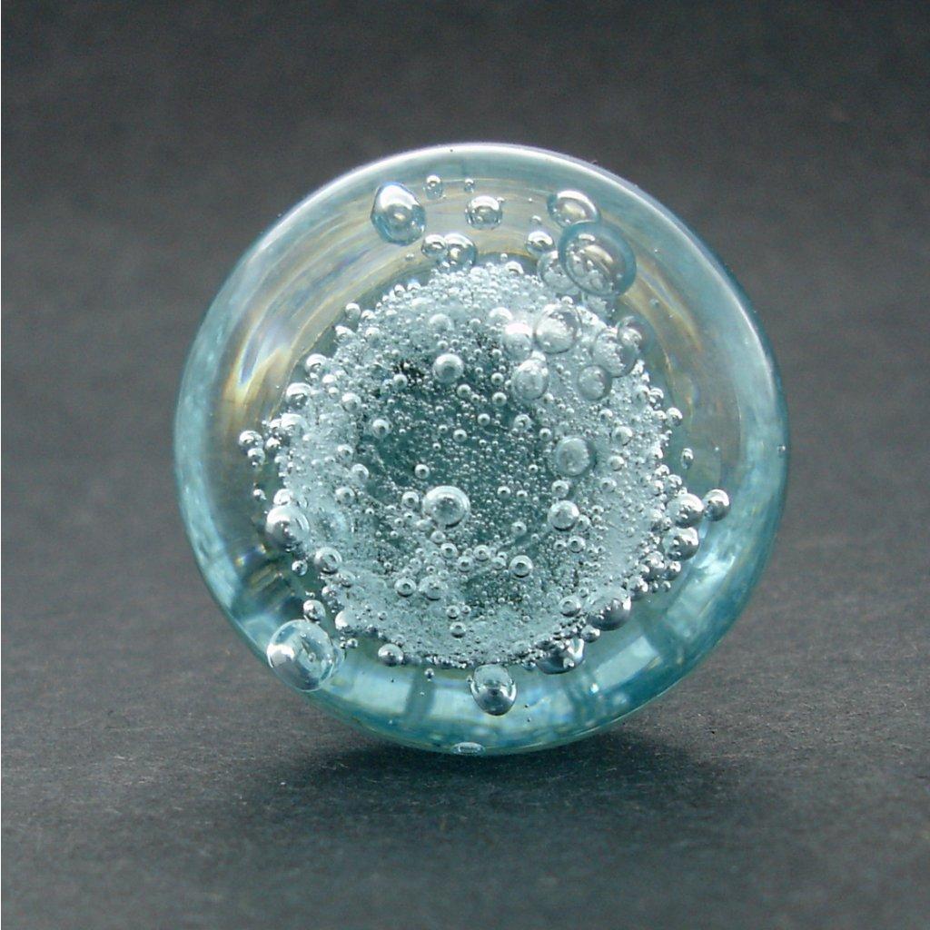 Skleněná úchytka-Mořská bublinka