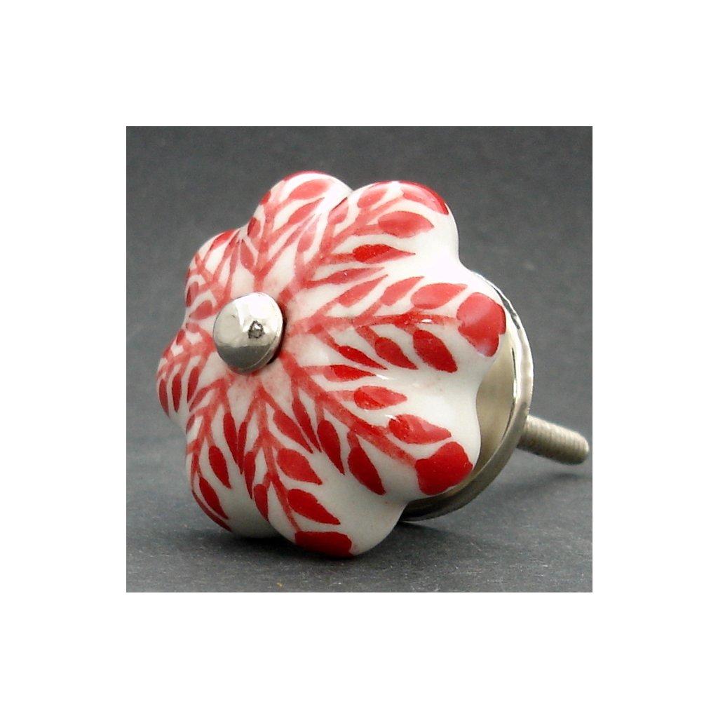 Keramická úchytka-Červený strom