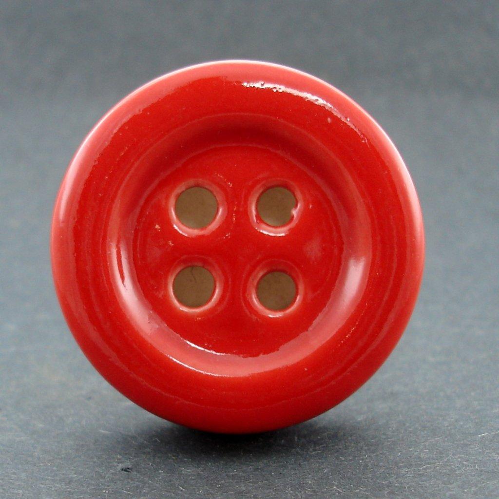 Keramický úchyt-Červený knoflík