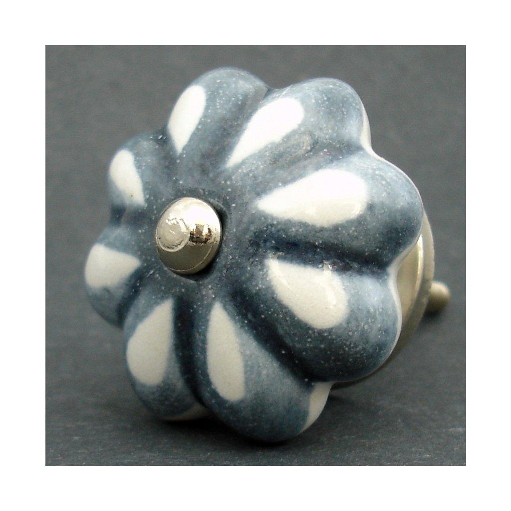 Keramická úchytka-Šedý lem