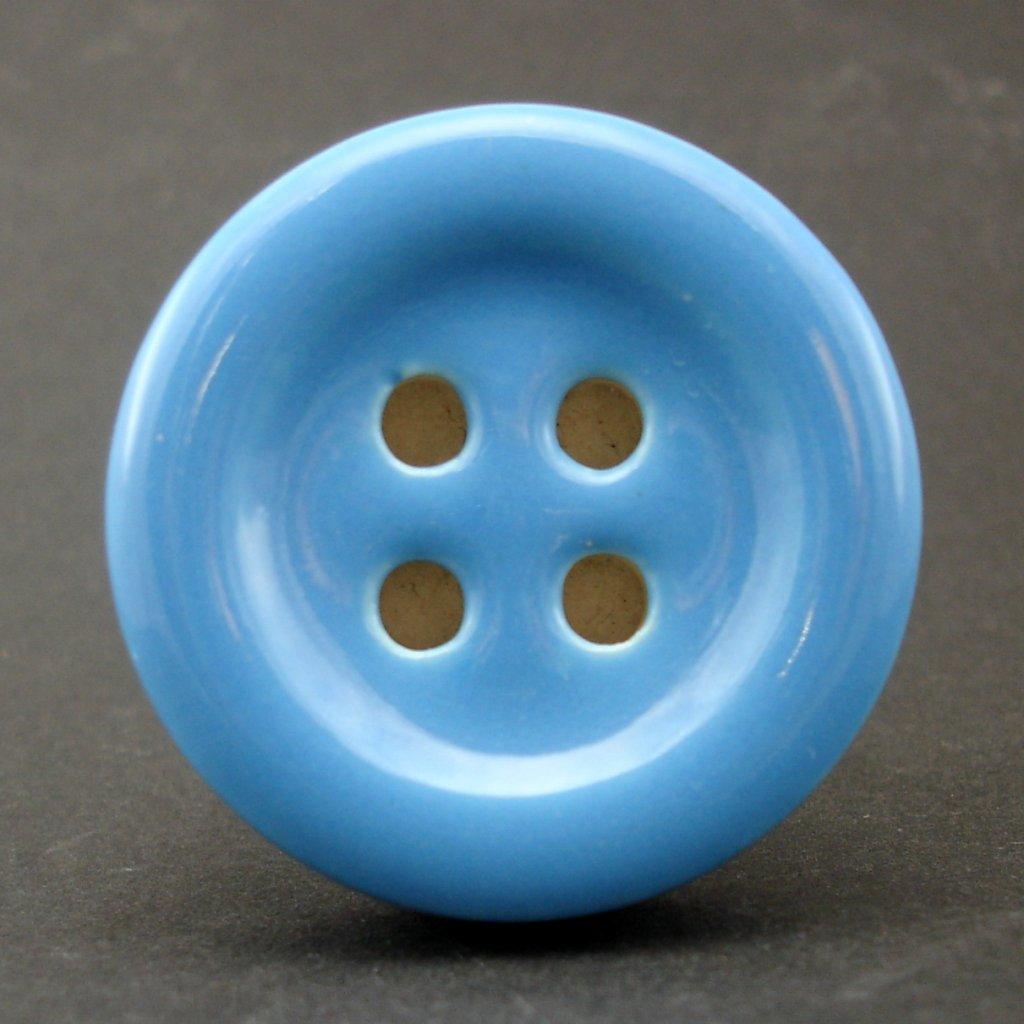 Keramický úchyt-Modrý knoflík