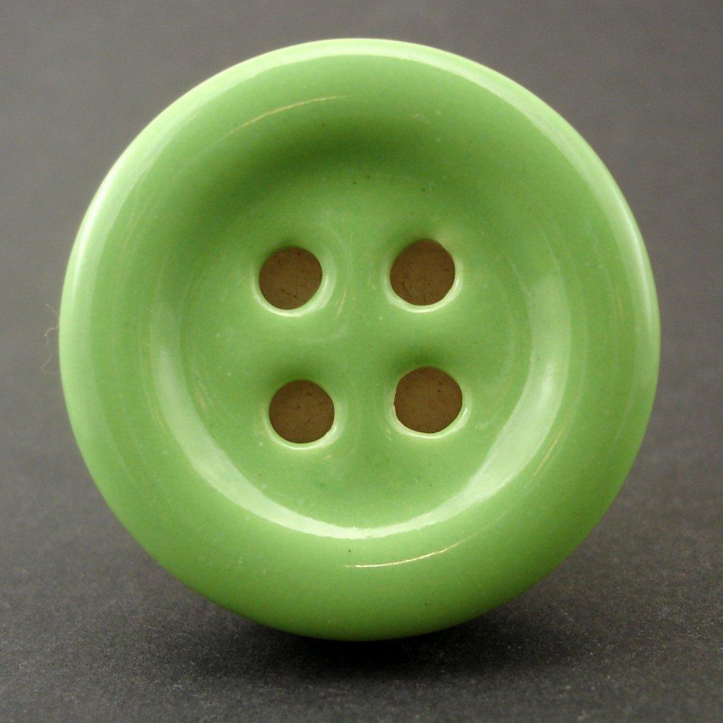 Keramický úchyt-Zelený knoflík