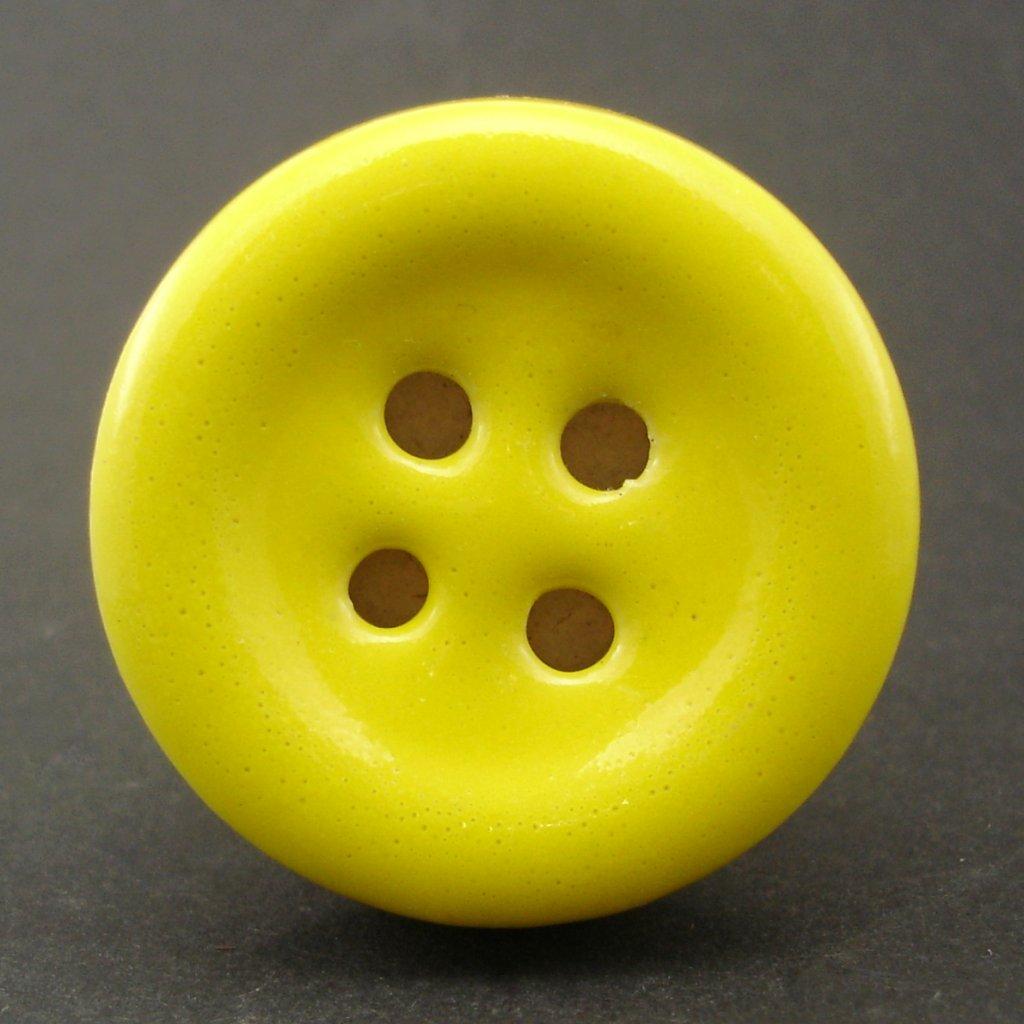 Keramický úchyt-Žlutý knoflík