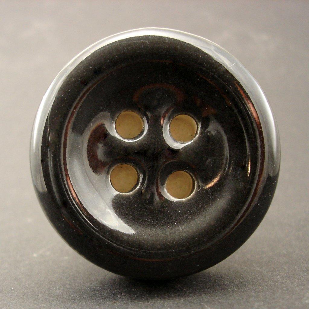 Keramický úchyt-Černý knoflík