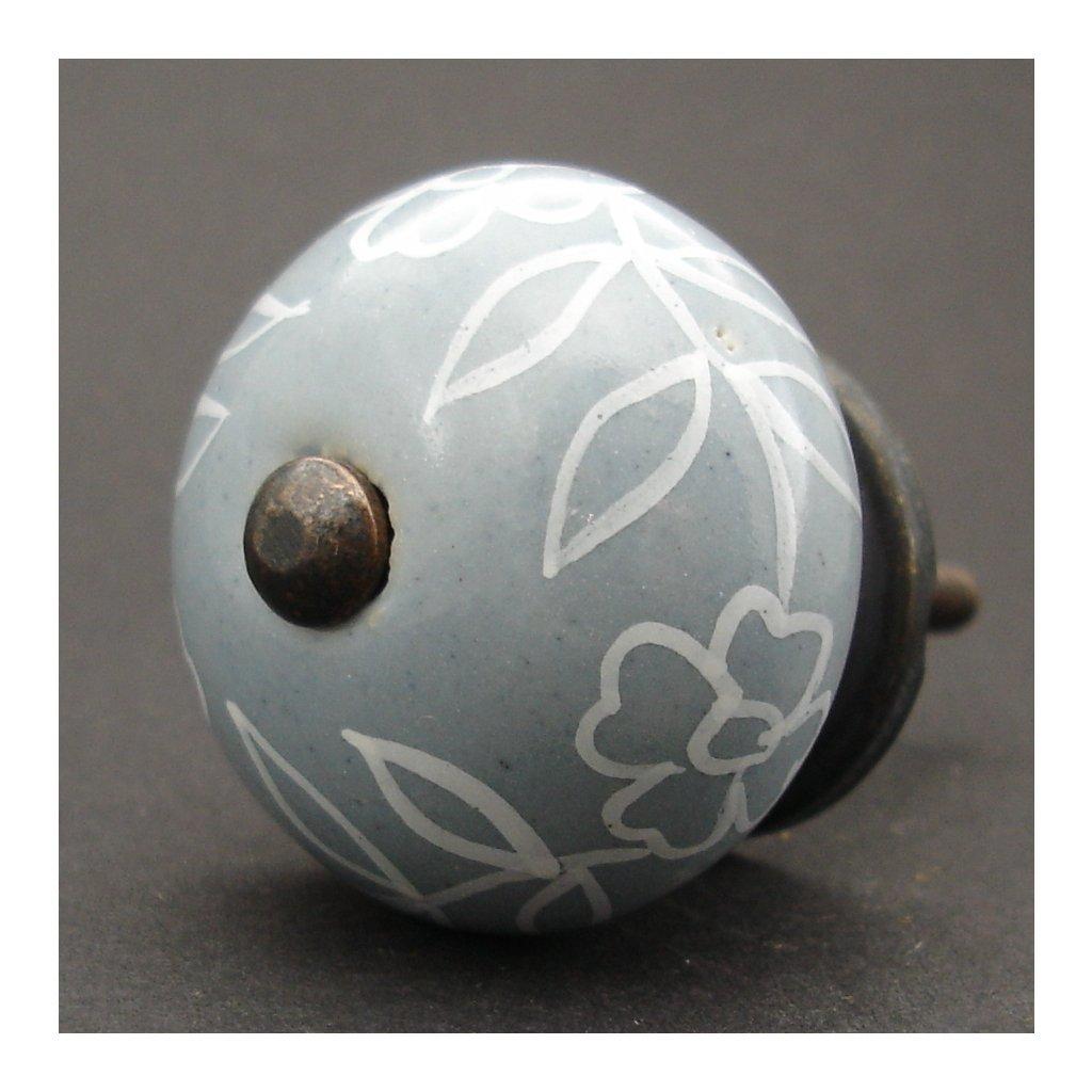 Keramická úchytka -Povíjnice šedá