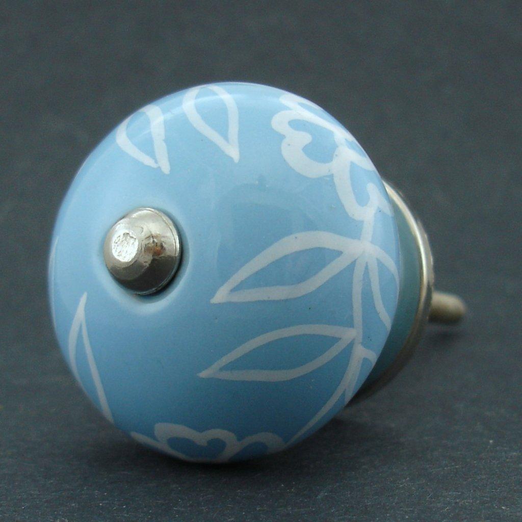Keramická úchytka-Povíjnice modrá