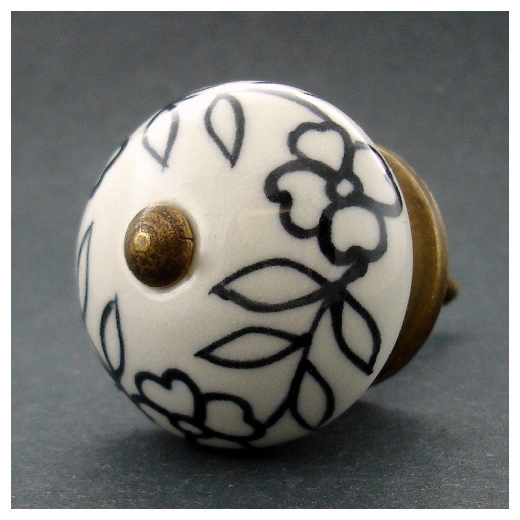 Keramická úchytka -Povíjnice bíločerná