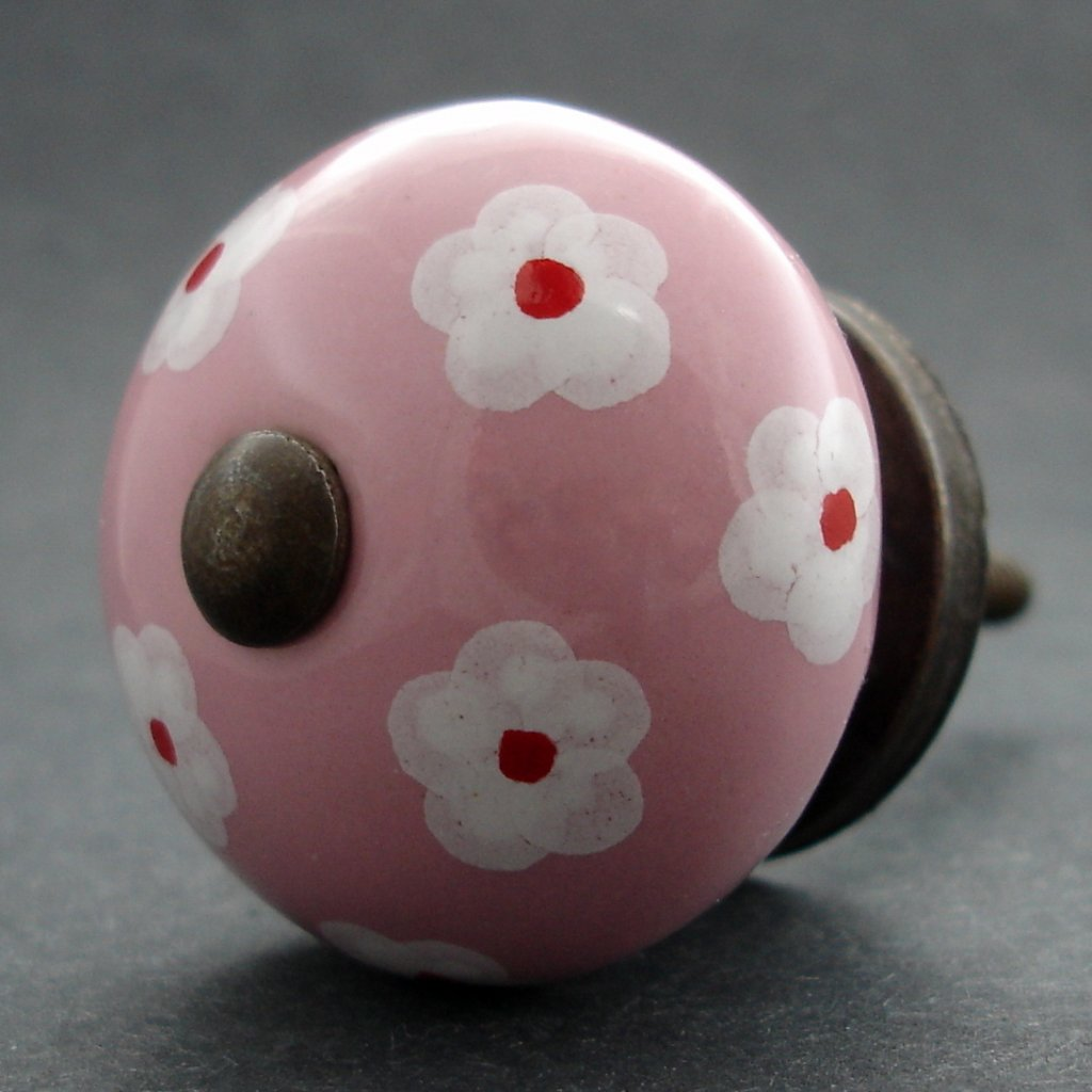 Keramická úchytka -Krásnoočko růžové