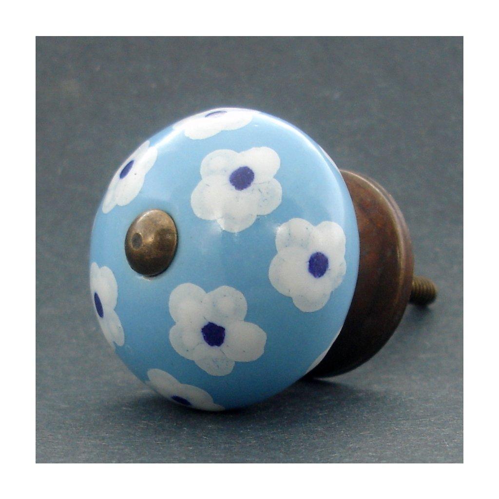 Keramická úchytka -Krásnoočko modré