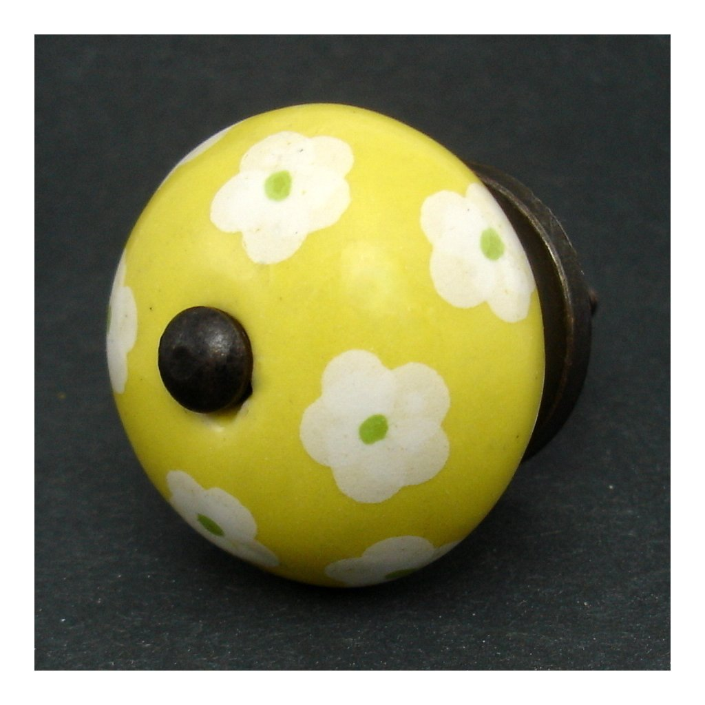 Keramická úchytka -Krásnoočko žluté