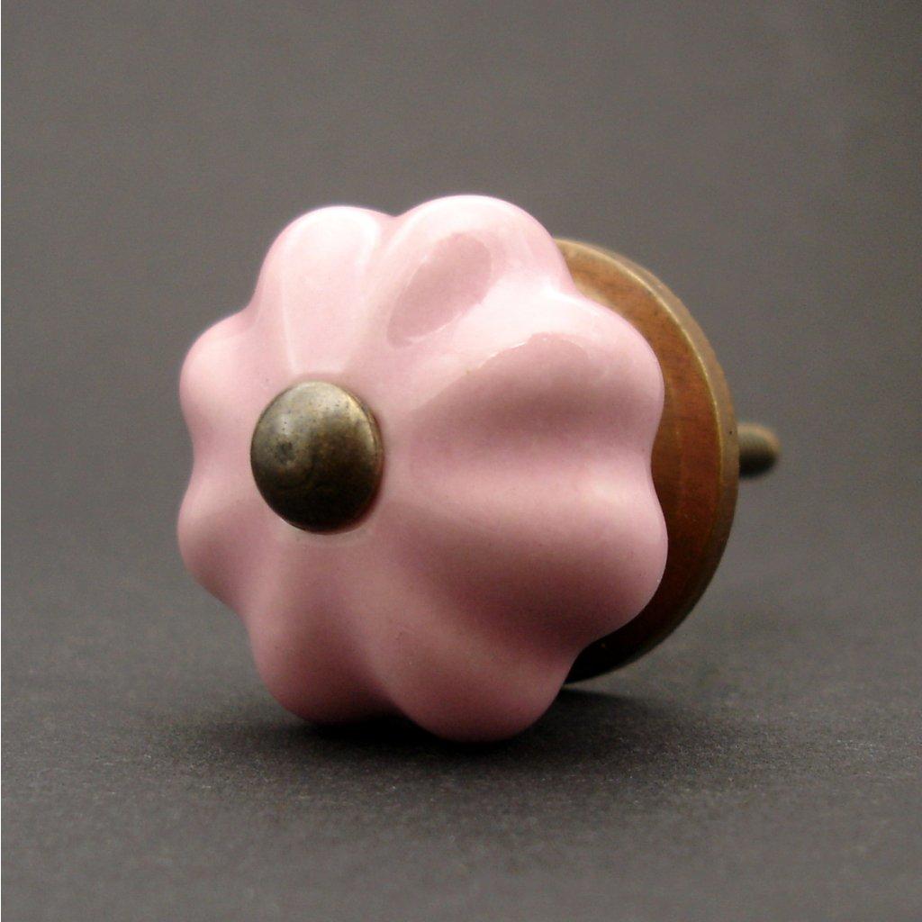 Keramická úchytka-Růžová-SMALL