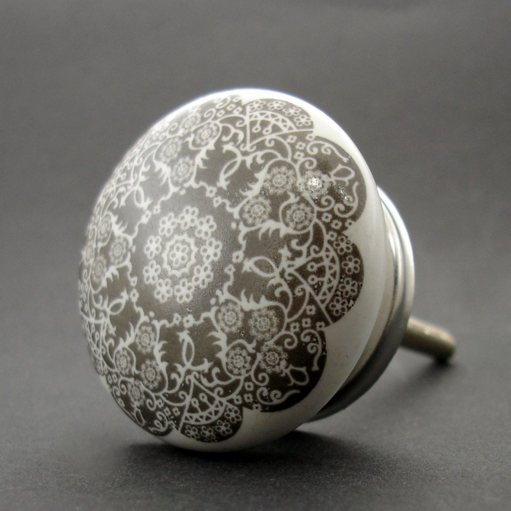 Keramická úchytka-Orient šedý-POTISK