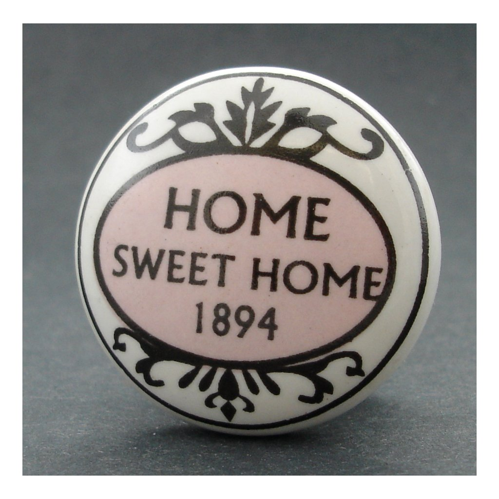 Keramická úchytka-Home Sweet Home-POTISK