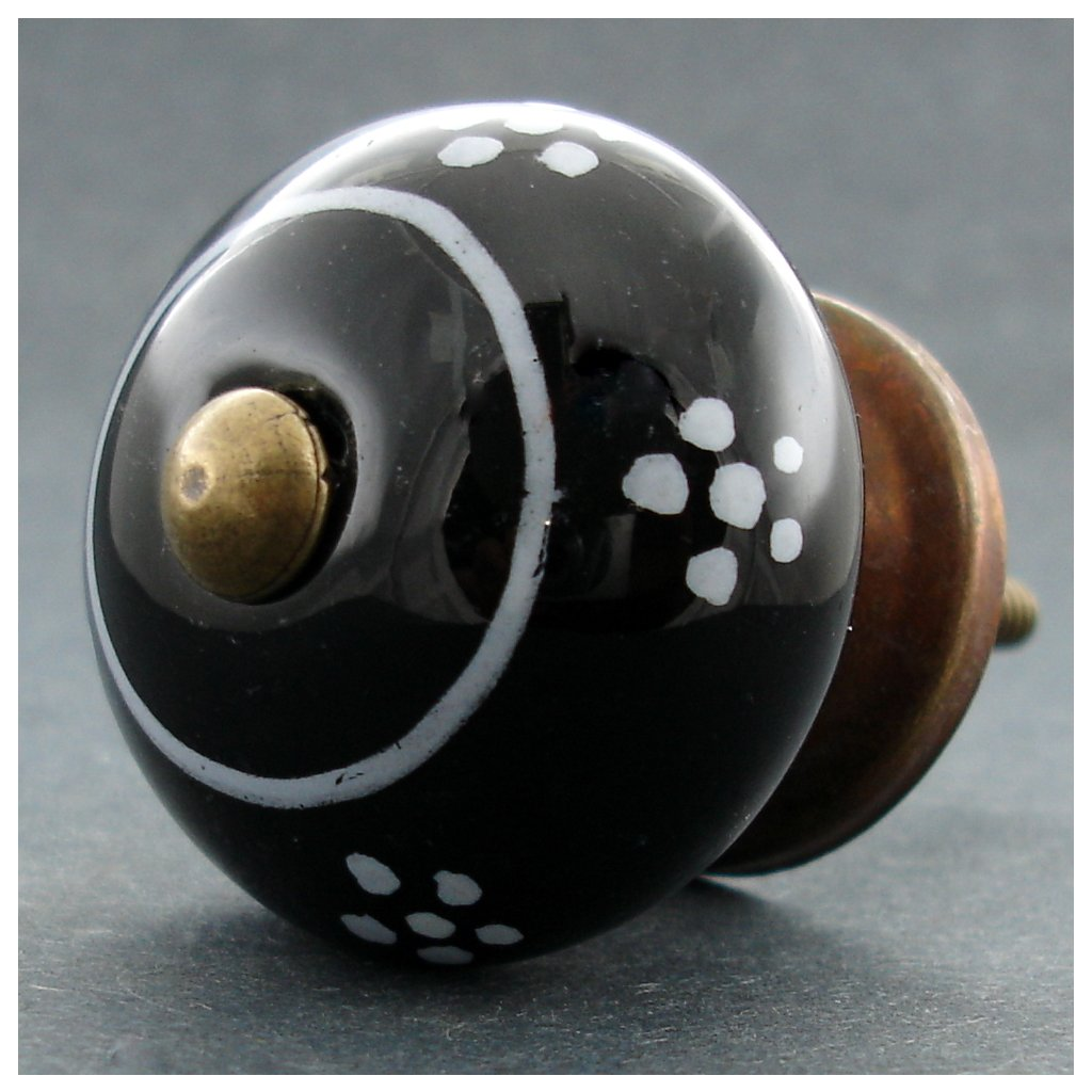 Keramická úchytka -Sedmikráska černá