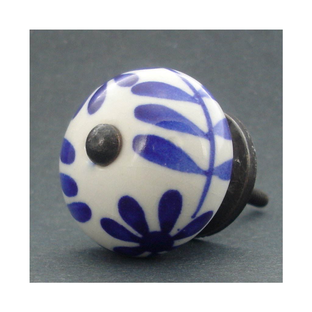 Keramická úchytka- Čekanka modrá