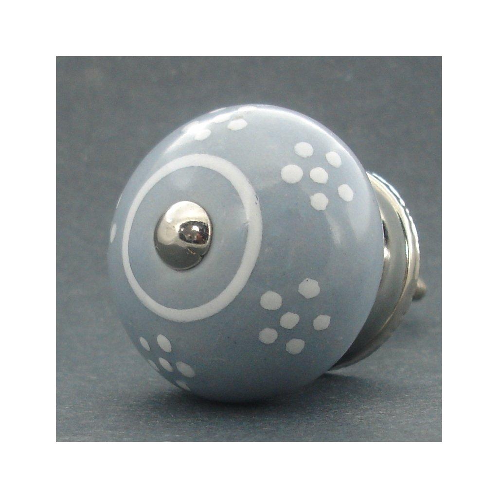 Keramická úchytka -Sedmikráska šedá