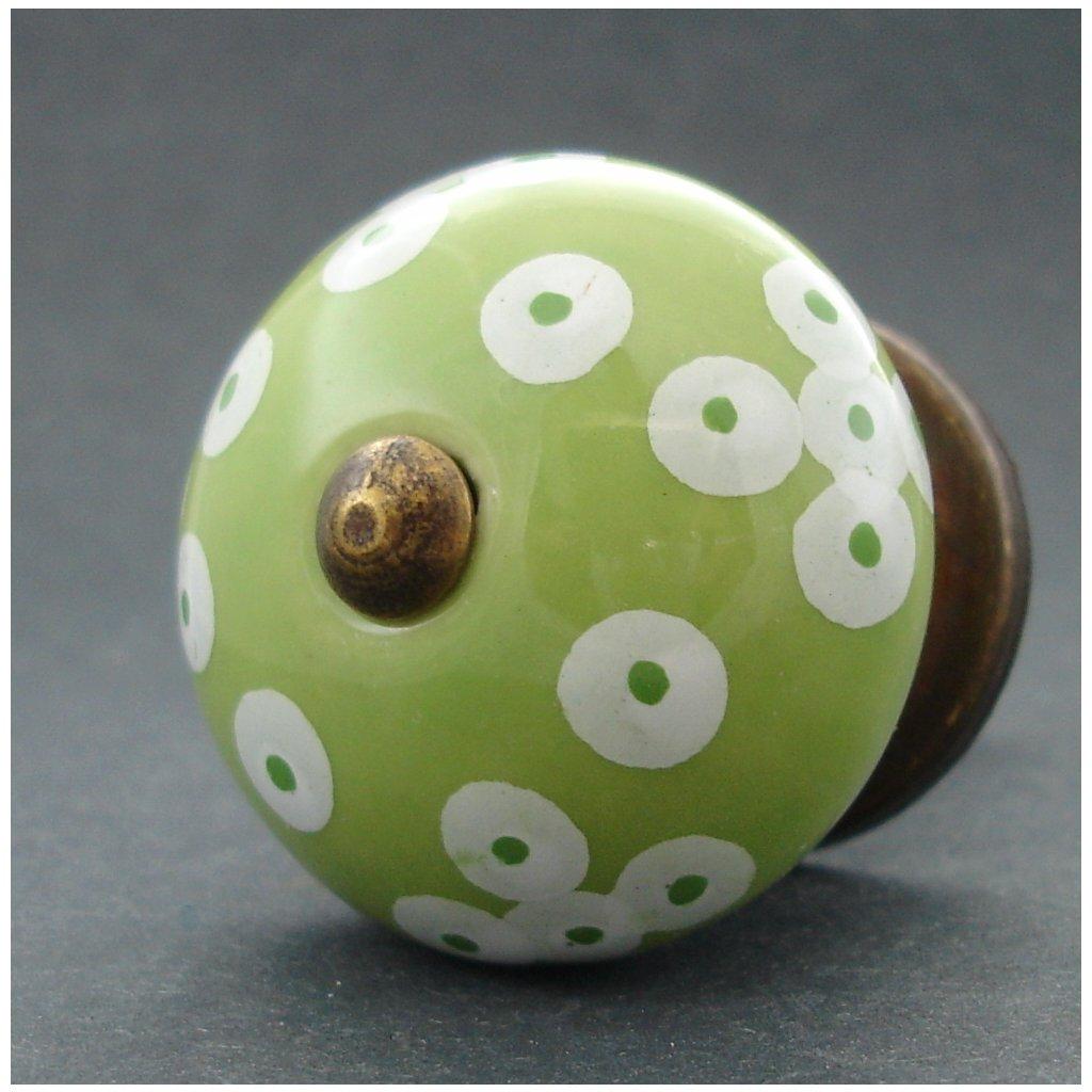 Keramická úchytka -Bublina zelená